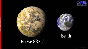 Nearby Super-Earth, Gliese 832 c, is the most Earth-like ...