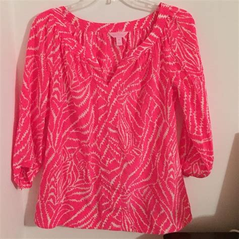 lilly pulitzer blouse 59 lilly pulitzer tops lilly pulitzer bright pink