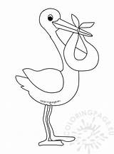 Template Stork Cartoon Coloring Pages Storks Templates Boy Sketch sketch template