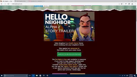 how to hello neighbor pre alpha demo