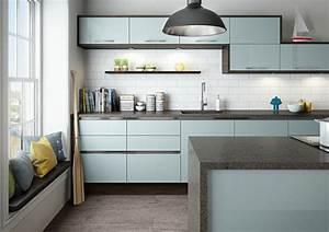 cuisine bleu turquoise et gris chaioscom With cuisine gris et bleu