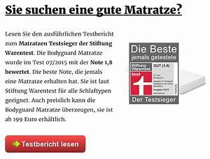 Matratzen Im Test Stiftung Warentest : matratzen im test stiftung warentest haus dekoration ~ Bigdaddyawards.com Haus und Dekorationen