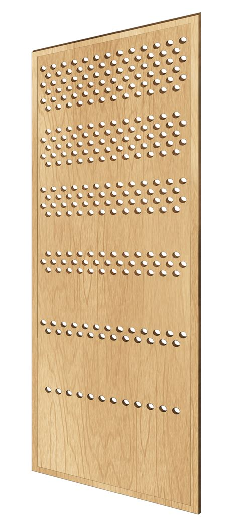 Skandināvu stila koka dekoratīvais sienu panelis Dotted