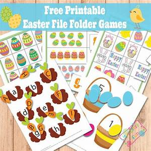 free printable easter file folder games free homeschool With free file folder game templates