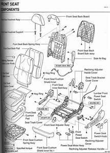 Front Seat Diagram  Broken Part  - Clublexus