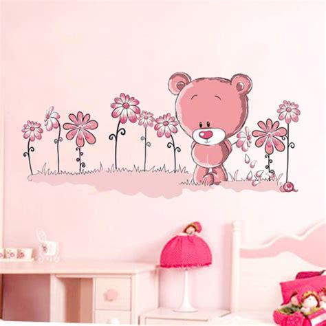 sticker chambre bebe garcon pink teddy wall stickers mural children 39 s