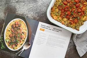 baked orzo with artichokes tomato and halloumi the