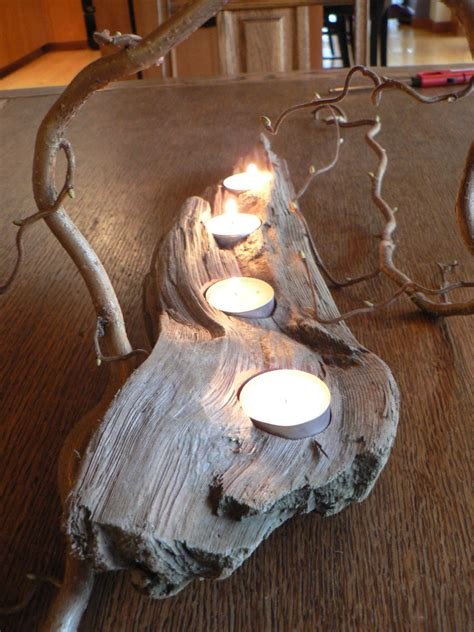 driftwood candle holder driftwood driftwood candle holder 4 votive mantle