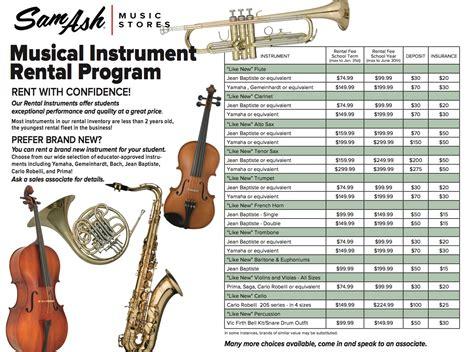musical instrument rental program sam ash