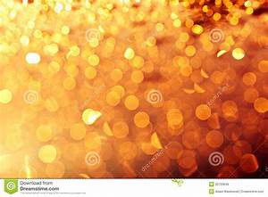 Golden Christmas Lights Background Stock Photo