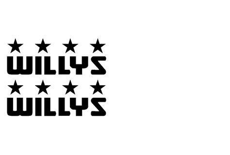 willys willy s jeep decals u s army stickers wrangler any color pair ebay