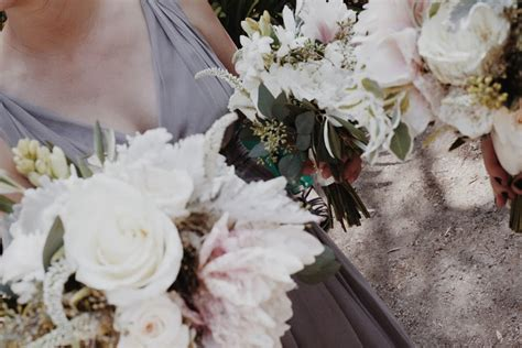 diy wedding flowers with olive branches eucalyptus roses dahlias emilystyle