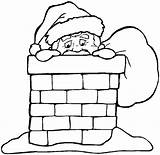 Coloring Chimneys Holidays sketch template