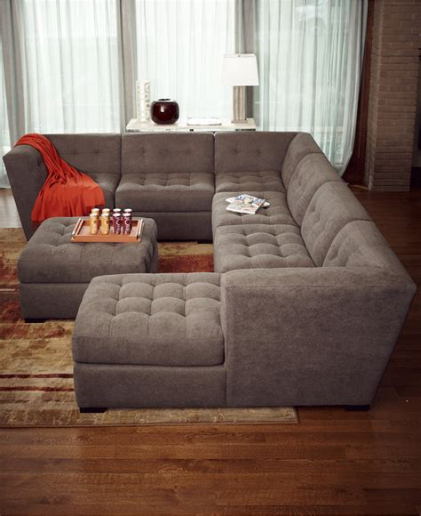 images of sectional sofas roxanne fabric 6 piece modular sectional sofa with ottoman