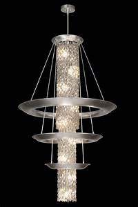 Grand Lustre Design : tr s grand lustre rond de cristal en cascade et trois ~ Melissatoandfro.com Idées de Décoration