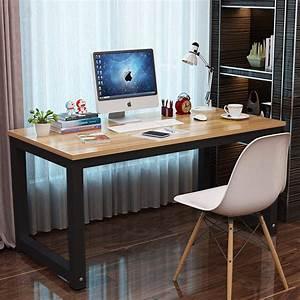 Professional, Office, Desk, Wood, U0026, Steel, Table, Modern, Plain, Lap, Desk