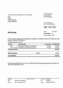 Rechnung Bei Versicherung Einreichen Vorlage : muster rechnung kleinbetrag bis 150 euro erstellt mit dem programm hth rechnungen ~ Themetempest.com Abrechnung