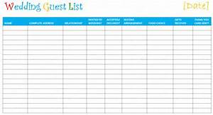 top 5 resources to get free wedding guest list templates With wedding invitation list maker