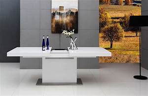 Modrest Zenith - Modern White Extendable Dining Table - Dining Tables