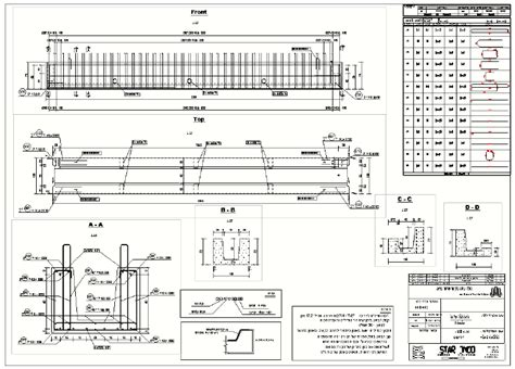 typical precast girder shop drawing note  detailed