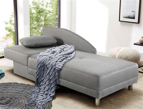 Recamiere 149x90 Cm Grau Ottomane Schlafsofa Couch Sofa