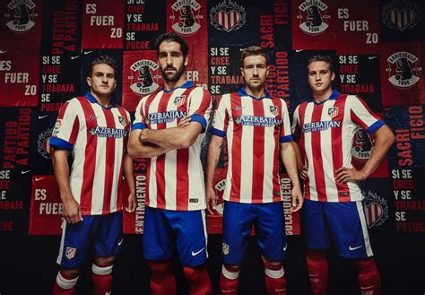 Bienvenido a nuestro instagram oficial |welcome to our official instagram. New Atlético Madrid 14-15 Home and Away Kits - Footy Headlines
