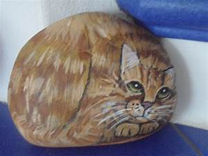 Steine Bemalen Katze : bemalter stein katze rot getigert bei ebay bemalter stein bemalte steine katzen tiere auf ~ Watch28wear.com Haus und Dekorationen