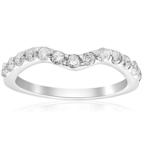 ct curved diamond notched wedding ring enhancer