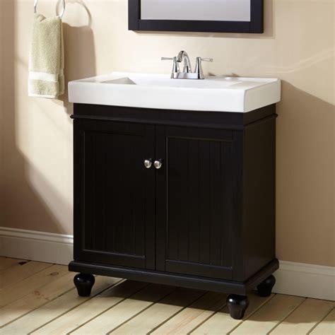 lander vanity black bathroom