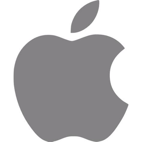 Gray apple icon - Free gray site logo icons