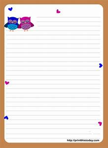 owl writing paper With letter stationary