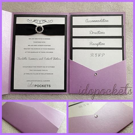 folded wedding invitations pocket fold wedding invitations diy envelopes invite metallic sleeve cards ebay check out