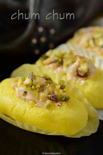 chum chum recipe bengali cham cham recipe spiceindiaonline