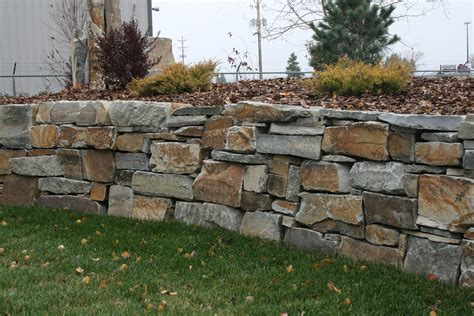 rock wall ideas chief cliff drystack garden wall from montana rockworks design ideas natural stone landscape