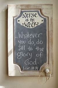chalkboard scripture scriptures and chalkboards on pinterest With kitchen cabinets lowes with bible quote wall art