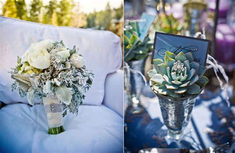 Blue Silver Wedding Colors Winter Wedding Flowers Bouquet