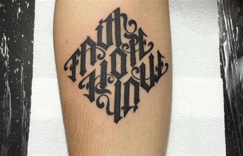 ultimate ambigram tattoo designs reversible tattoo