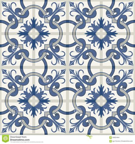 gorgeous seamless patchwork pattern from blue and