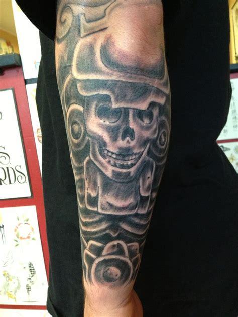 mayan tattoo god  death  spirits   flesh tattoo