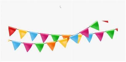 Banner Flag Clipart Colorful Paper Festival Transparent