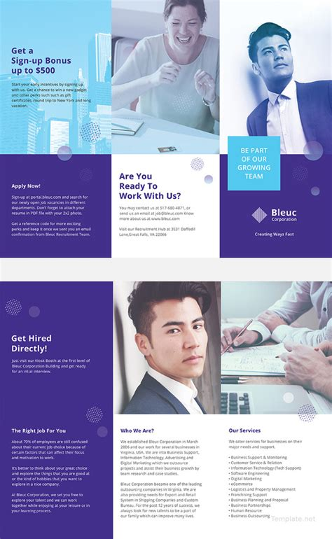 Recruiting Brochure Template 18 recruitment brochures free psd ai eps format
