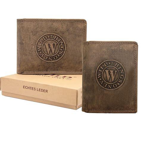 Herren Leder Geldbörse Geldbeutel Brieftasche Luxus echt