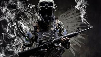 Gas Masks Soldier Army Military Duty Call