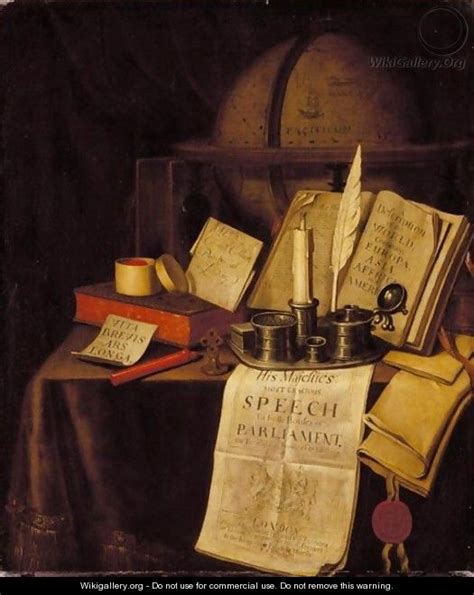 Vanités Contemporaines by A Vanitas Still With An Ink Well And Quill A Candle