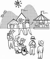 Park Amusement Coloring Pages sketch template