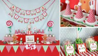 kara s party ideas christmas sweet shop girl boy 1st birthday party planning ideas