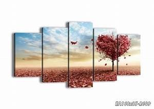 Tableau En 5 Parties : impression sur toile 160x85 cm image sur toile 5 ~ Dailycaller-alerts.com Idées de Décoration