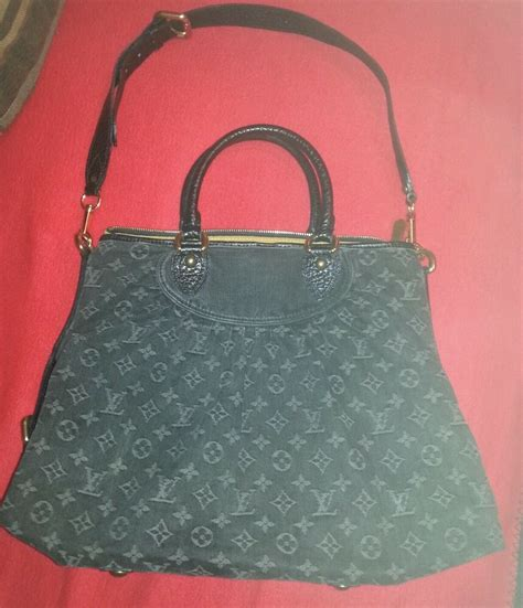 authentic louis vuitton monogram denim neo cabby handbag