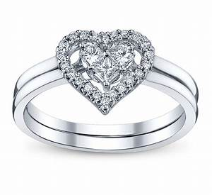 4 perfect heart bow diamond engagement rings for the With diamond wedding rings
