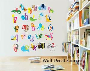 Nursery decor alphabet wall decals letters for kids